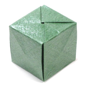 How to Make a cube from folded paper with origami « Origami ... | 300x300