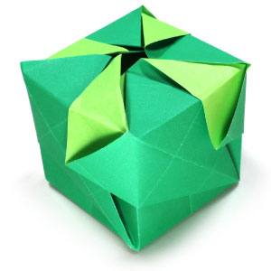 origami cube with four kites