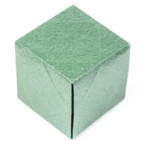 How to make a simple origami cube: page 1 - photo#47