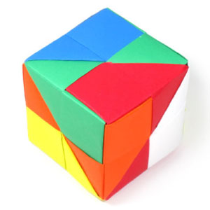 traditional origami cube