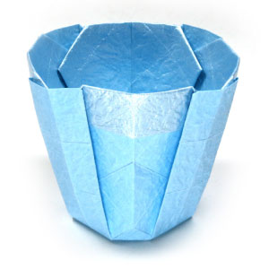 How to make a simple 3D origami cup II: page 1 - photo#17