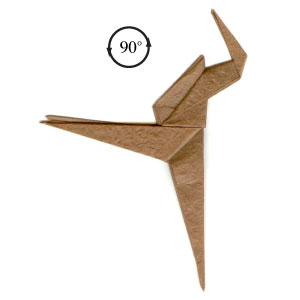 Origami Dinosaur Velociraptor - easy origami - How to make an ... | 300x300