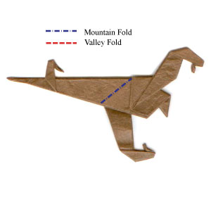 How To Make A Origami Velociraptor