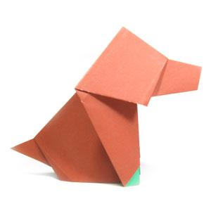 origami dog | Éléphant en origami, Diagrammes origami ... | 300x300