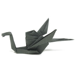 Dragon origami Instructions Elegant Martin S origami Dragon ... | 300x300