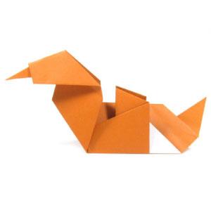 Origami Duck (face) | Origami easy, Origami design, Easy origami ... | 299x300