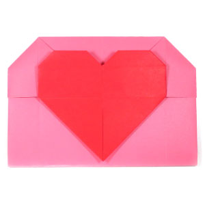 Origami Envelope Heart - Origami Valentine's Day Gift Card ... | 300x300