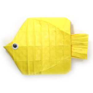 How To Make An Origami Butterflyfish Page 1