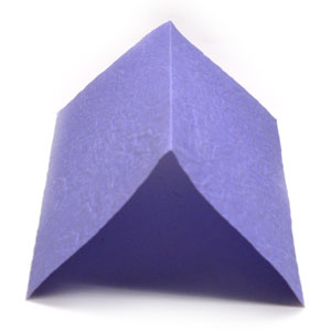 mountain-fold in origami