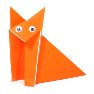 traditional sitting origami fox