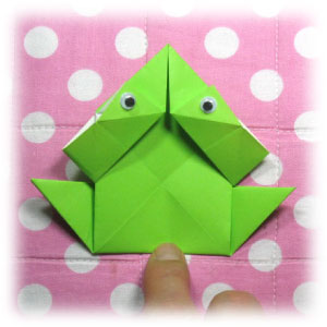 Make an origami frog that really jumps | Origami frog, Origami ... | 300x300