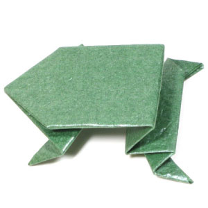 Jumping frog origami - photo#16