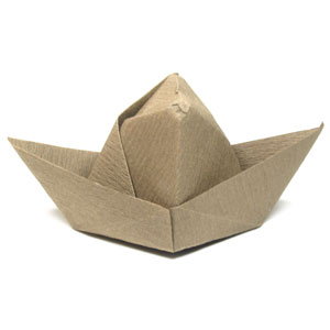traditional cowboy origami hat