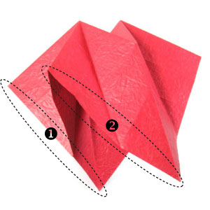 how to make a 3d paper heart step by step