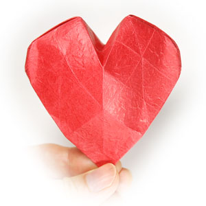 43th Picture Of 3D Origami Paper Heart