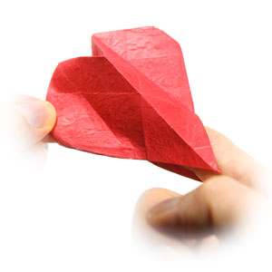 how to make a 3d origami heart