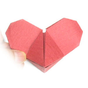 Mickey Mouse origami heart
