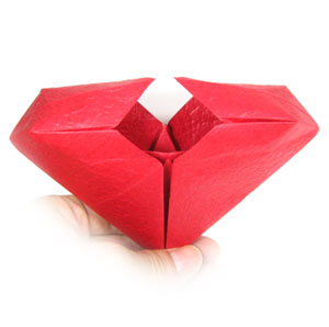 how to make an origami heart box instructions