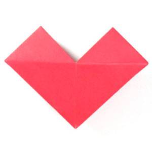 origami heart with a small