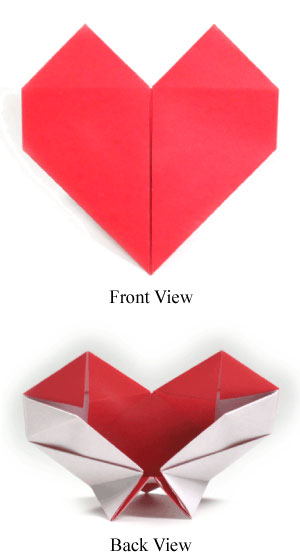 origami heart with a stand II