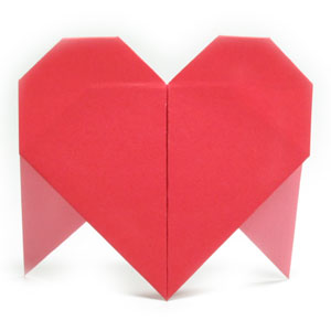 origami heart with two legs