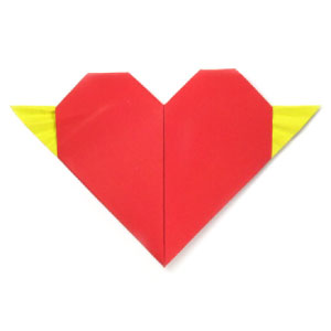 origami heart with tiny wings