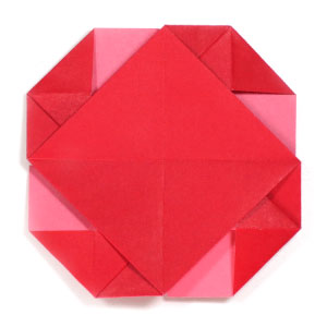 back view of pinwheel origami letter II