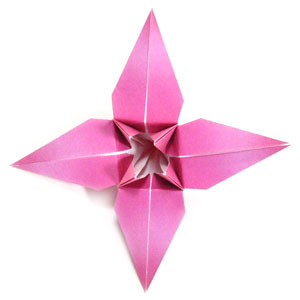 traditional origami lily