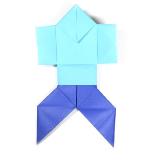 traditional origami man