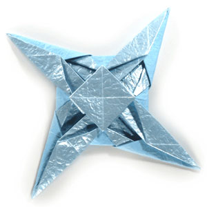 Origami Symmetrical Shuriken Star Tutorial - Paper Kawaii | 300x300