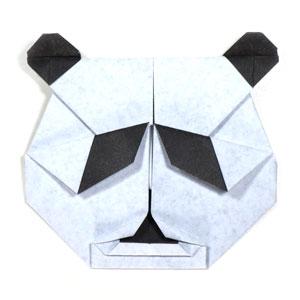 Face Of Origami Panda