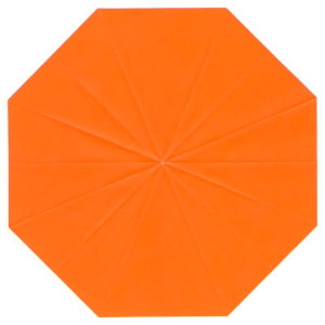 regular octagon from square paper