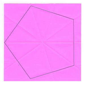 regular pentagon from square paper