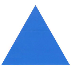 equilateral triangle from square paper