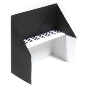 how to make a traditional origami piano page 1