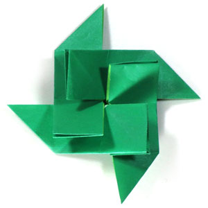 how to make a spiral origami pinwheel page 1