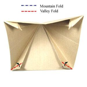 origami pyramid box instructions