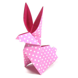 traditional origami moon rabbit