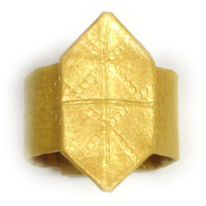 Easy Origami Money Ring