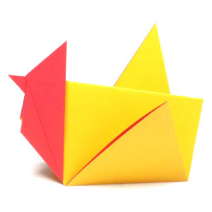 traditional origami rooster