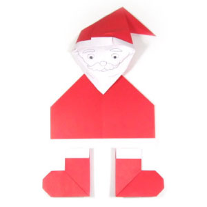 Christmas origami Santa Claus - tutorial - YouTube | 300x300