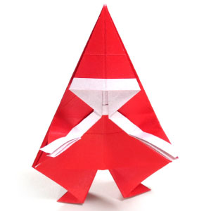 Christmas Origami Santa Claus - Easy origami - How to make an easy ... | 300x300