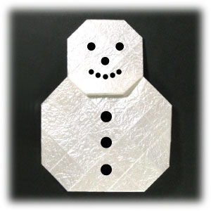 easy origami snowman