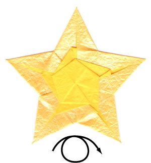 Four Pointed Star Box Origami