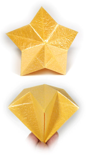 3D five-pointed origami paper star