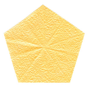 3D five-pointed origami paper star: new front side of paper
