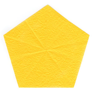 3D five-pointed origami paper star: new back side of paper