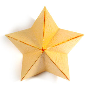 How to make a 3d five pointed origami paper star page 15 for Make a 3d star