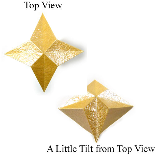 3D Four Pointed Origami Paper Star