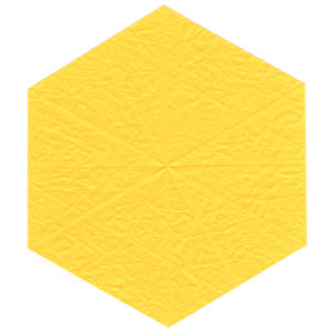 3D six-pointed origami paper star: new back side of paper